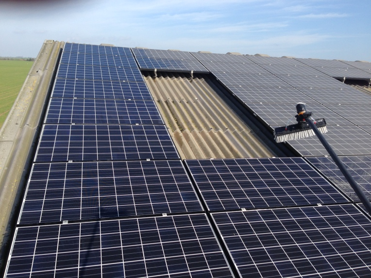 Solar panels cleaned to maximise efficiency