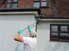 soffits and gutters being washed1